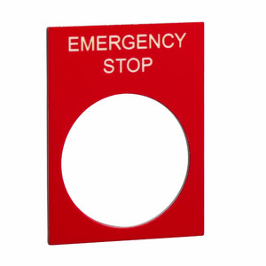 "Etykieta 30x40mm ""EMERGENCY STOP"""