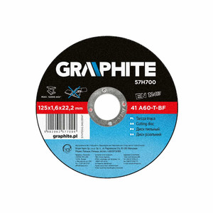 Graphite Tarcza tnąca do metalu 115 x 1.0 x 22.2 mm, 41 A60-T-BF
